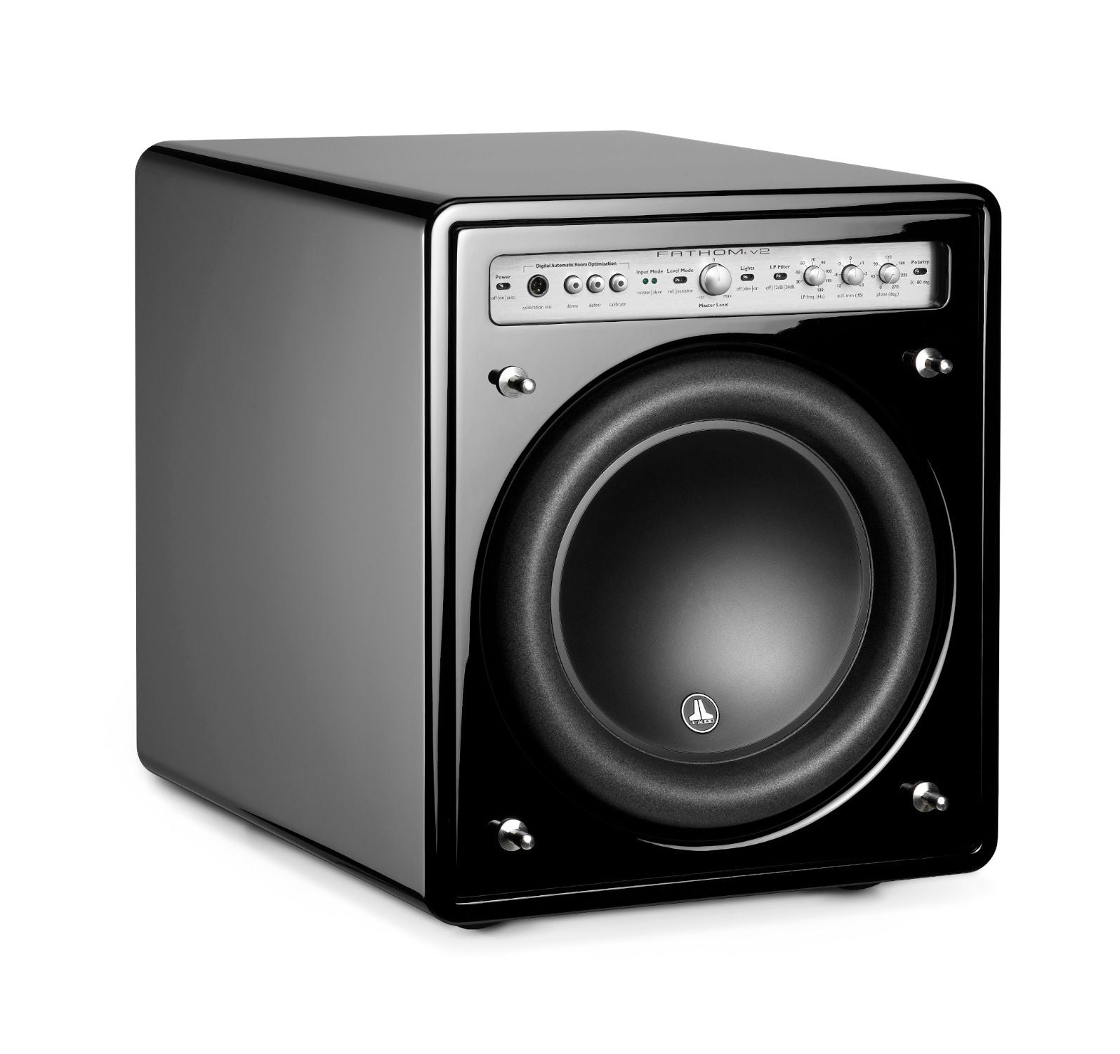 Front of f110v2 Subwoofer Facing Right