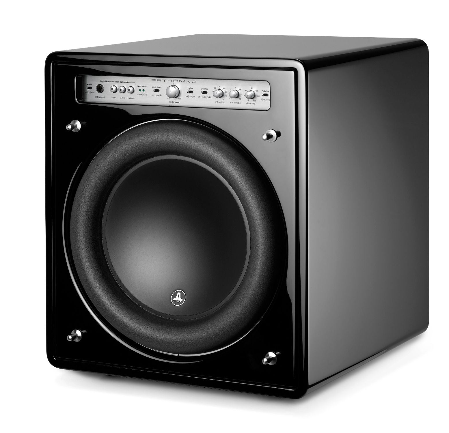 Front of f112v2 Subwoofer Facing Left