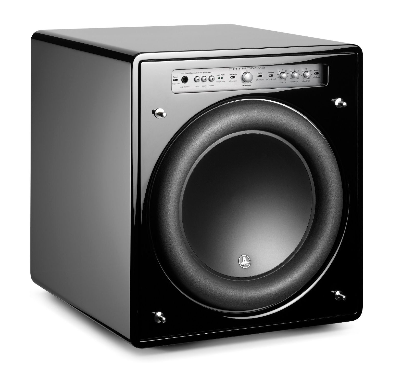 Front of f113v2 Subwoofer Facing Right