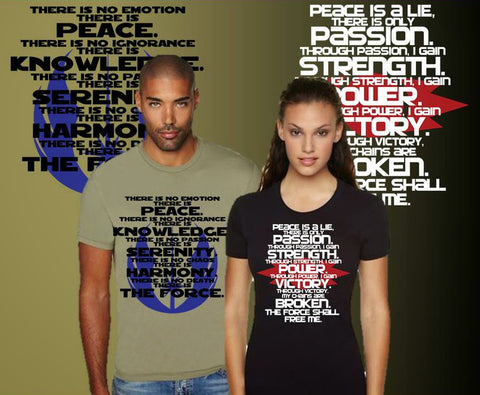 Jedi And Sith Code Shirts