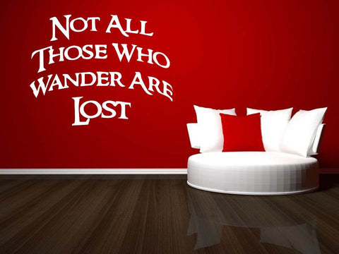 Not All Those Who Wander Are Lost Tolkien Wall Art in White
