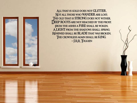 Tolkien Quote Wall Art