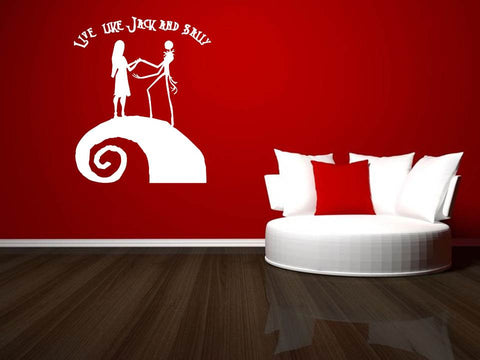 Live like Jack and Sally wall art