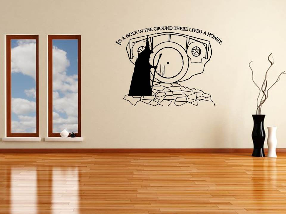 Tolkien Hobbit Hole Wall Art