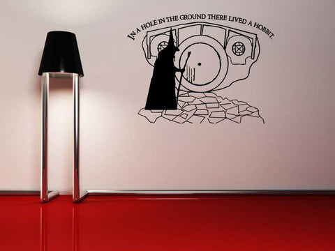 Lord of the Rings Gandalf Hobbit Hole Wall Art