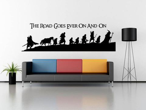 Fellowship of the Ring wall art & My Geekery | Geeky Apparel Vinyl Decals Posters and Wall Decor ...