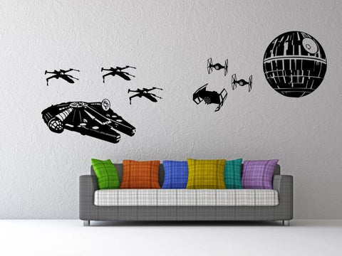Star Wars battle wall art