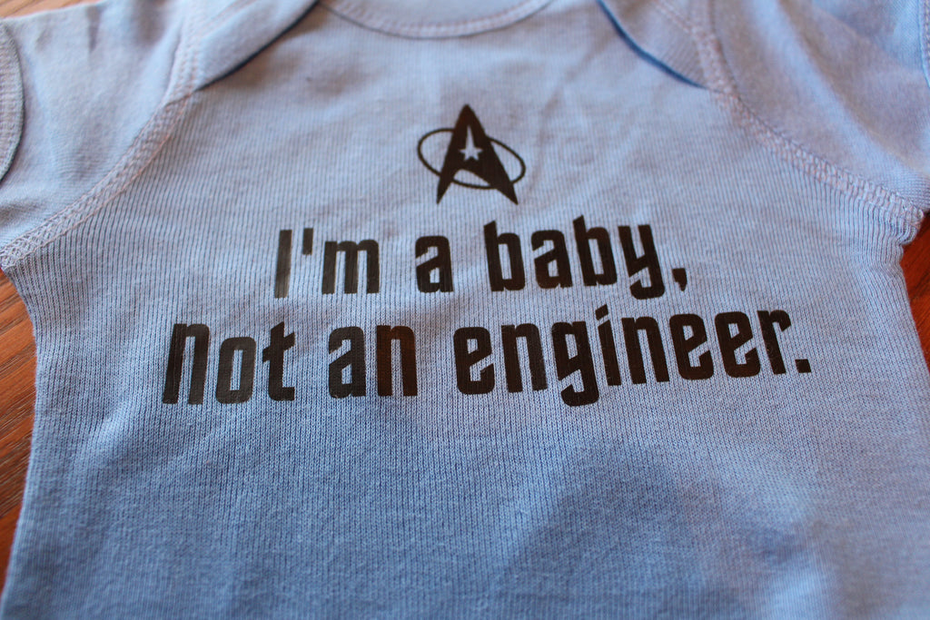Baby Not An Engineer Star Trek Onesie