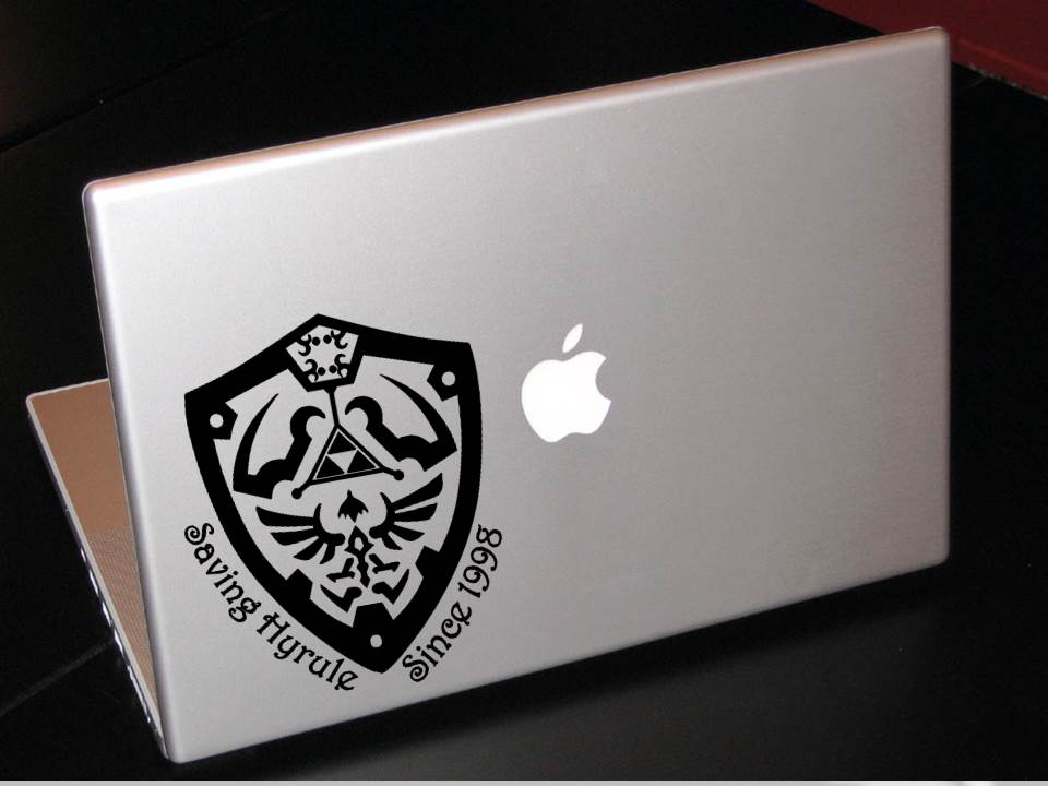 Zelda laptop decal