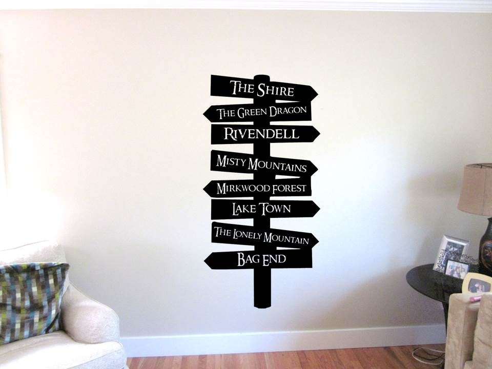 Middle Earth Sign Wall Art