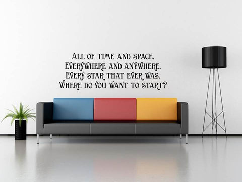 Doctor Who Quote Wall Art, Geeky Home Decor