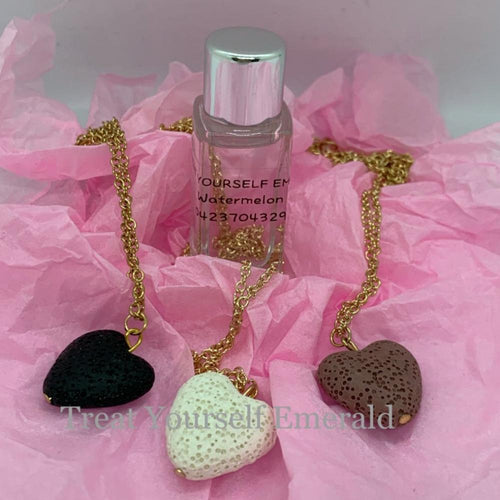 Heart diffuser necklace