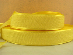 1 Yard - 1 inch YELLOW Velvet-like with satin edge- velvet - reversible- same on both sides Ribbon.