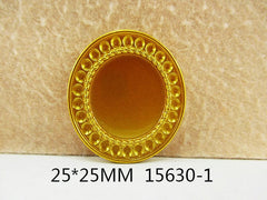 1 Piece -   Gold Tone Resin Cameo  - Center is 1 inch circle 15630-1 Cap Cameo