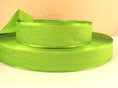 1 Yard - 1 inch LIME GREEN Velvet-like with satin edge- velvet - reversible- same on both sides Ribbon.