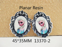 1 Piece -     Frozen Elsa Flat Resin  - Approx.  1 3/4 inch