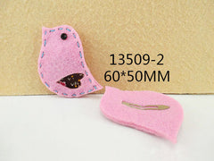 1 PIECE - FELT BIRD / BIRDIE PINK HAIR CLIP - HAIRCLIP  - Baby - Newborn - Toddler