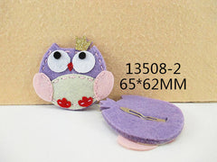 1 PIECE - FELT OWL LAVENDER TONES HAIR CLIP - HAIRCLIP  - Baby - Newborn - Toddler