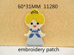 1 Piece - Embroidered Cute Cinderella Patch -   approx. 3 inches - resin - accent - center