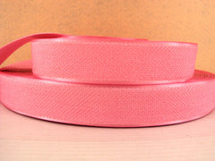 1 Yard - 1 inch PINK Velvet-like with satin edge- velvet - reversible- same on both sides Ribbon.