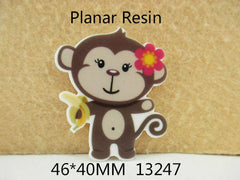 1 Piece -   Cute Monkey Flat Resin  - Approx.  1 3/4 inch