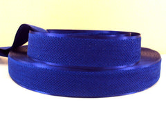 1 Yard - 1 inch ROYAL BLUE Velvet-like with satin edge- velvet - reversible- same on both sides Ribbon.