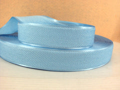 1 Yard - 1 inch LIGHT BLUE Velvet-like with satin edge- velvet - reversible- same on both sides Ribbon.