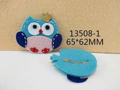 1 PIECE - FELT OWL BLUE TONES HAIR CLIP - HAIRCLIP  - Baby - Newborn - Toddler