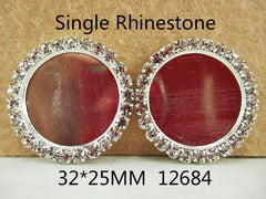 1 Piece -   Single Rhinestone Round Metal Center - Resin  - Approx.  1 1/4 inch - Center is 1 inch circle 12684