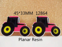 1 Piece -    PINK TRACTOR  12864  - SIZE  45MM X 33MM