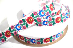1 Yard 7/8 inch Mexico Mexican Flowers Floral 16 de Septiembre 5 de Mayo Cinco Colorful Printed Grosgrain Ribbon Cheer Hair Bow