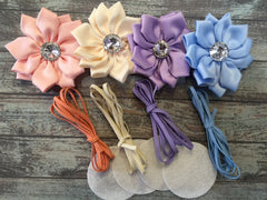 12 Piece Headband Flower DIY Kit - Baby Shower Gift - Makes 4 Headbands!