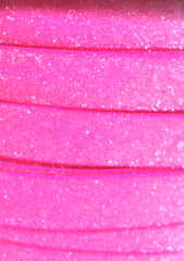 1 Yard -  5/8 inch NEON PINK Sparkle / Glitter Elastic - High Quality