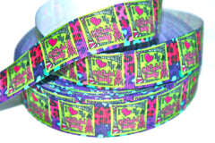 1 Yard 1 inch  - I Love My Oilfield Daddy -   Printed Grosgrain Ribbon