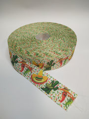 1 Yard 7/8 inch Mexican Mexico  Printed Grosgrain Ribbon Hair Bow - 7/8""