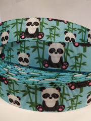 1 yard 7/8 - Bear 7/8 -printed grosgrain ribbon