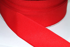 1 Yard 1.5 inch - WIRED - RED GROSGRAIN - CHRISTMAS - HOLIDAY - WREATH -  1 1/2 INCH WIDTH  RIBBON