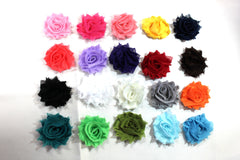 1 Piece  - 1.5 INCH - MINI Shabby Chic, Frayed Flower, Vintage Look for Headband, Hairclip, Hairbow