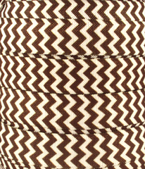 1 Yard - 5/8 inch Brown and White Chevron Fold Over Elastic (FOE)