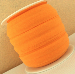 1 Yard -  7/8 inch ELASTIC  - ORANGE