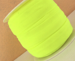 1 Yard -  7/8 inch ELASTIC  - NEON YELLOW / NEON LEMON