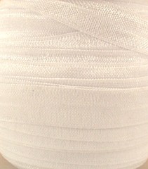 1 Yard -  5/8 inch - WHITE - Fold Over Elastic FOE