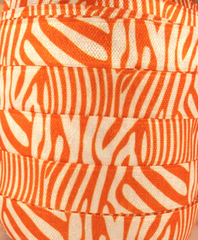 1 Yard -  5/8 inch - ORANGE Zebra on White   - Fold Over Elastic FOE