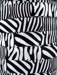 1 Yard -  5/8 inch - Black Zebra (NEW)   - Fold Over Elastic FOE