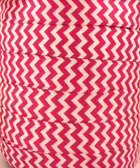 1 Yard -  5/8 inch - HOT PINK AND WHITE CHEVRON   - Fold Over Elastic FOE