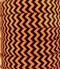 1 Yard -  5/8 inch - Orange and Black Chevron - Halloween   - Fold Over Elastic FOE