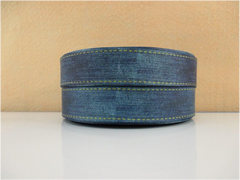 1 Yard 1 inch  BLUE DENIM / BLUE JEAN LIKE PRINT11082 -   Printed Grosgrain Ribbon