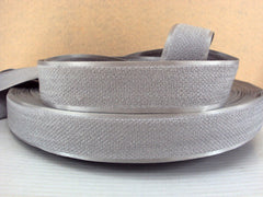 1 Yard - 1 inch GRAY / GREY Velvet-like with satin edge- velvet - reversible- same on both sides Ribbon.
