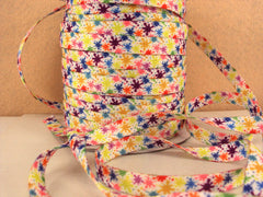 1 Yard 3/8 inch FUNKY LACES - PAINT SPLATTER - DOUBLE SIDED - SHOE LACES - COTTON