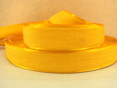 1 Yard - 1 inch GOLD/YELLOW Velvet-like with satin edge- velvet - reversible- same on both sides Ribbon.